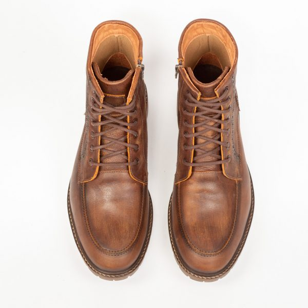 Boot Masculino em Couro Caramelo Hoover