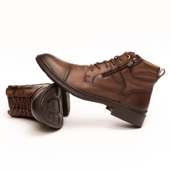 Boot Masculino Em Couro Hoover