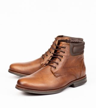 Boot Masculino Hoover Em Couro Caramelo