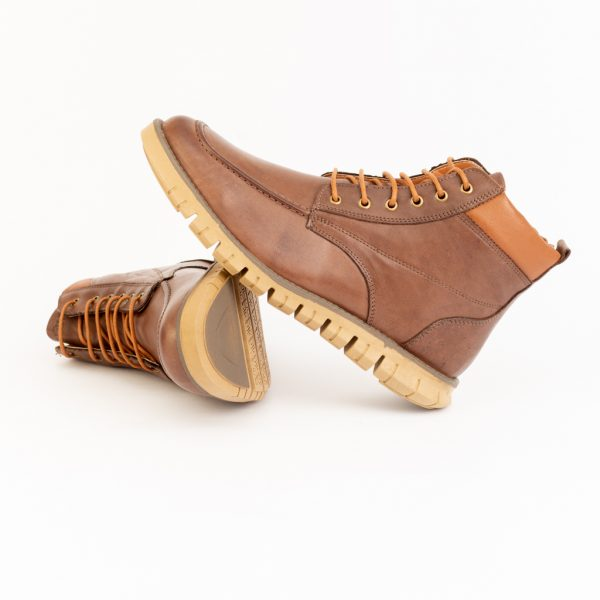 Boot Masculino Em Couro Liso Hoover